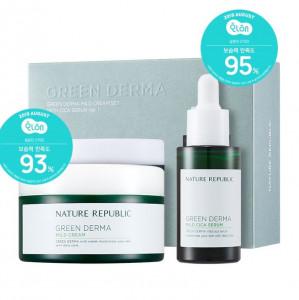 NATURE REPUBLIC Green Derma Mild Cream Set With Cica Serum Ver.1