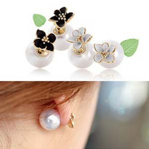 4XTYLE Florida Pearl Flower Earring_ER514-GA03