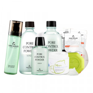 The skin house Pore Control Powder 8 items (cleanser,toner