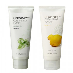 [E] THE FACE SHOP Herb day 365 cleansing foam 170ml