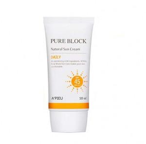 [35%] APIEU Pure Block Natural Daily Sun cream SPF45/PA+++50ml