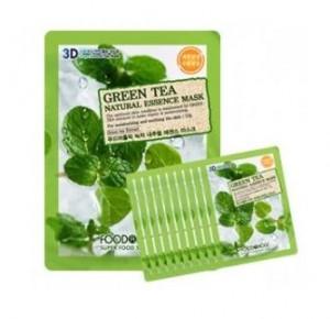 [Online Shop] FOOD A HOLIC 3D Natural Essence Mask [Green Tea] x10EA