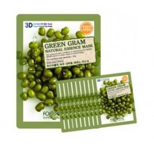 [Online Shop] FOOD A HOLIC 3D Natural Essence Mask [Green Gram] x10EA