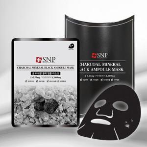 [SALE] SNP Charcoal Mineral Black Ampoule Mask 25ml*10ea