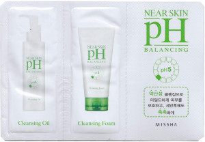 [S] Missha Near Skin PH Balancing Cleansing Oil 2ml + Cleansing Foam 2ml*10ea