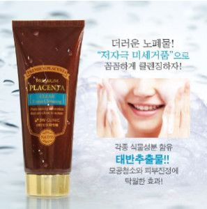 [SALE] 3W CLINIC Premium Placenta Clear Foam Cleansing 180ml