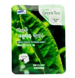 [SALE] 3W CLINIC Fresh mask sheet [Green tea] X10sheet