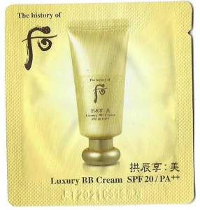 [S] The History of Whoo Gongjinhyang Mi Luxury BB Cream SPF 20/PA++ 1ml*10ea