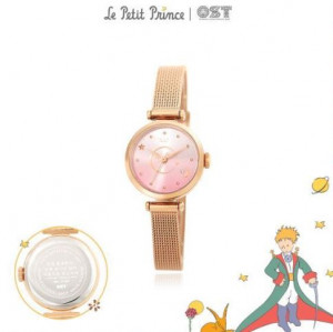 [R] OST Little Prince Pink Planet Rose Gold Mash Watch