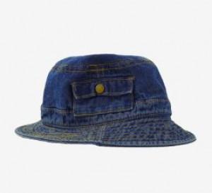 [R] STYLENANDA Contrast Stitch Denim Bucket Hat