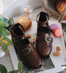 [S] MILKCOCOA Heidi Shoes #Brown Color, 235mm