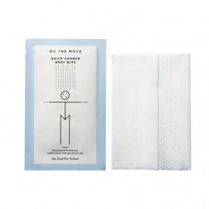TOO COOL FOR SCHOOL On The Move Quick Shower Body Wipe 1ea