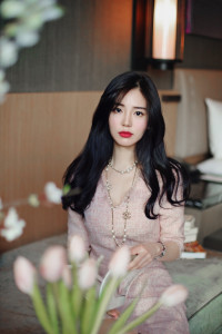 [W] MILKCOCOA Pink Fringe Tweed Dress 1ea