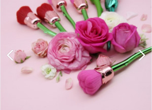 [W] 7FACE BRUSH Dewy Rose Flower Brush 1ea