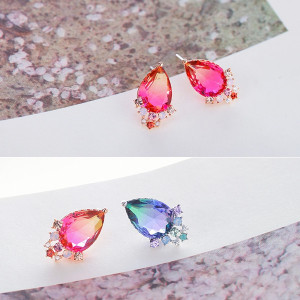 [W] SOO & SOO Crystal Earrings 1set
