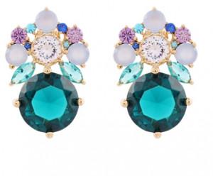 [W] NOONOO FINGERS Royal Blue Earing 1set
