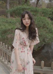 [W] FEMMEMUSE Olivia Silky Chiffon Dress 1ea