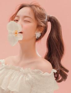 [W] PINKAGE Rolling Pony Tale Floral Waltz - Khaki Brown 1ea