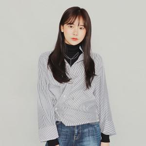 [W] IM3 Mark Cotton Shirt (Option: Beige) 1ea