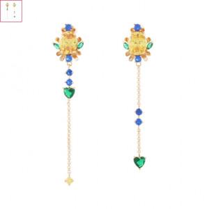 [W] NOONOOFINGERS Lemon drop Earrings 1set