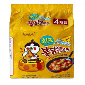 [W] Samyang Hot Chicken Cheese Noodles 4ea