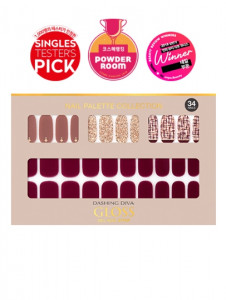 [W] DASHING DIVA Gloss Gel Nail Strip DGNP_36 - Tuscan Wine