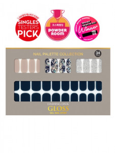 [W] DASHING DIVA Gloss Gel Nail Strip DGNP_39 - Urban Navy