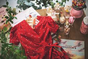 [W] MILKCOCOA Amelie dress line.lovely heart frill wrap dress 1ea
