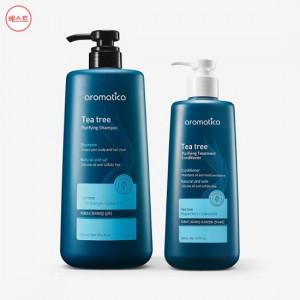 [W] AROMATICA Tea Tree Purufying Shampoo 900ml + Conditioner 400ml