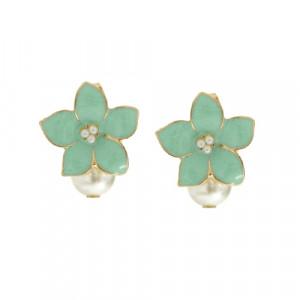 [W] kim yunyoung's request (Mint Flower Earrings, Cherry Blossom Earrings)