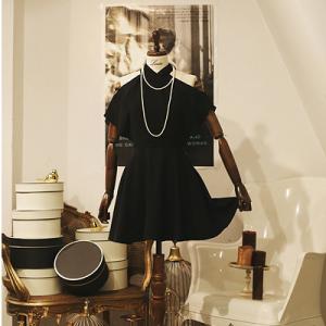 [R] Amelie dress line.Romantic noir dress #S