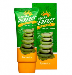 [SALE] FARMSTAY Alovera Perfect Sun Cream 70g (SPF 50+/PA+++)