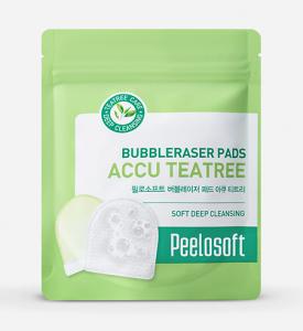 [SALE] PEELOSOFT Bubbleraser Pads Accu Tea Tree 20 pads (Refill Type)