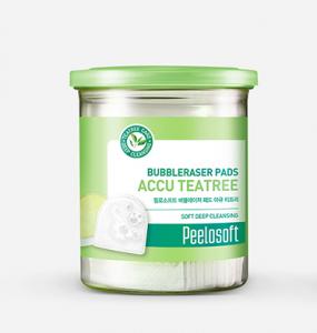 [SALE] PEELOSOFT Bubbleraser Pads Accu Tea Tree 20 pcs