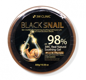 [SALE] 3W CLINIC Black Snail Real Natural Soothing Gel 98% 300g