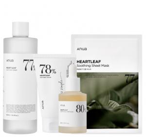 [R] ANUA Heartleaf Soothing Package Set (toner+cream+ampoule)(+sheet mask 10ea)