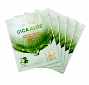 MISSHA Premium Cica Aloe Sheet mask 21g*5ea