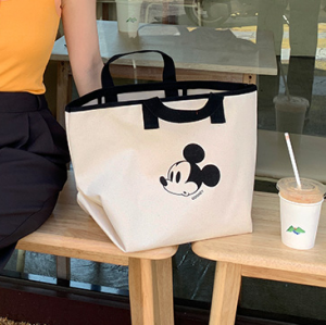 [R] Mickey Mouse Canvas Eco Bag 3colors