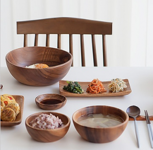 [R] Nicoat Wood Soup Bowl Salad Bowl M 1ea