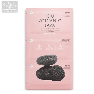 THE FACE SHOP Jeju Volcanic Lava Black Head 3 Step Nose Pack 1ea