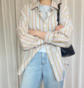 [R] Stripe Shirts 1ea
