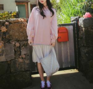 [R] MILK COCOA Amelie dress line.strawberry cream dress 1ea