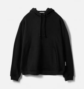 [R] AECA WHITE Heavy Weight Pullover Hoodie (Premium Basic)-Black 1ea