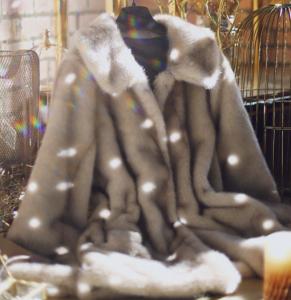 [R] MILK COCOA Lux Faux Fur Coat 1ea