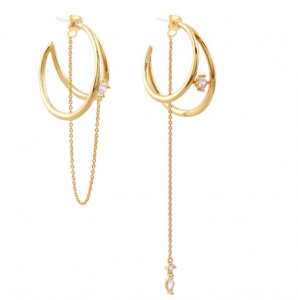 [R] NOONOO FINGERS Gold Ring Earring E02 1ea