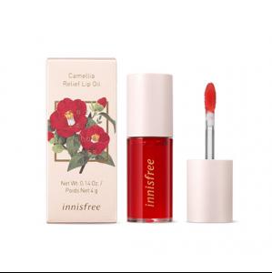 [INNISFREE] Jeju Color Picker Camellia Relief Lip Oil 4g