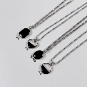 [R] Black Onyx Necklace 1ea