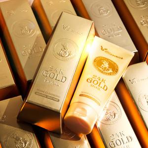 [E] ELIZAVECCA Milky Piggy 24K Gold Snail Foam Cleansing 180ml