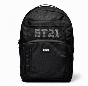 [R] BT21 Black Mash Back Pack