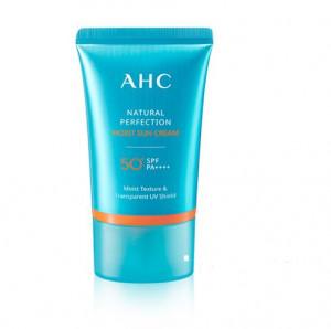 [SALE] AHC Natural Perfection Moist Sun Cream SPF50+/PA++++ 50ml